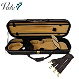 #7: VALE Professional 4/4 Full Size Luxury Oblong Lightweight Foamed Violin Case with Hygrometer