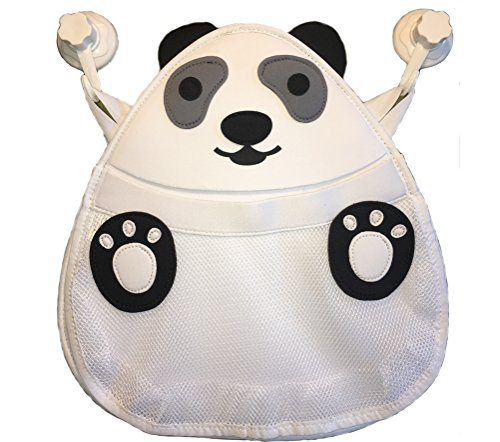 Bath Toy Organizer for Infants, Toddlers, Preschoolers. 2 Heavy Duty Suction Cups. Huge mesh bag to keep toys Dry, Mold free & Clean. Easy installation. Perfect choice for gifts. (Panda)