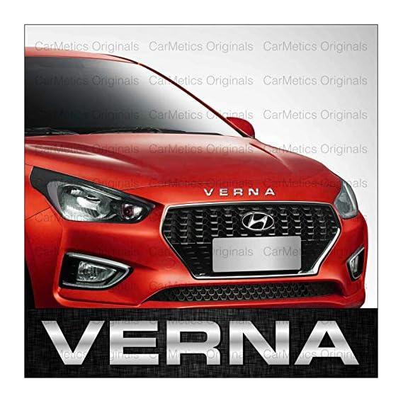 CarMetics Verna 3D Letters (3D Stickers 3D Logo 3D Emblem for Hyundai Verna Accessories)
