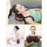Car Electronic Massage Pillow Massager Cushion Car Lumbar Neck Back Shoulder Heat Pillow Deep Kneading Massager Relax Pain Back Pillow for Car Home Office Massager
