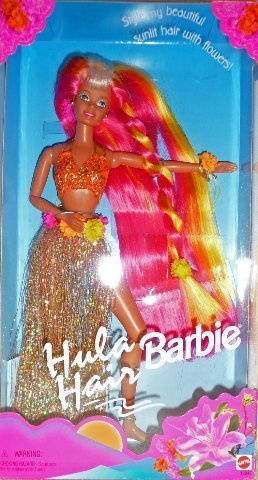 Mattel Pink & Gold Hula Hair Barbie