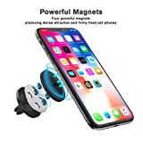 Mpow Magnetic Car Phone Mount, [2 Pack] Upgrade Universal Air Vent Car Mount Phone Holder, Strong Magnet Phone Mount Holder for Cell Phones and Mini Tablets, with 4 Metal Plates