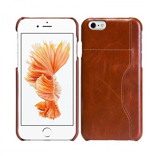 eFabrik Cover pour Apple iPhone 6 / iPhone 6S housse sac cover téléphone portable accessoire smartphone case extérieur cuir marron