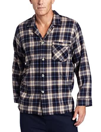 Majestic International Men's Storm Chaser Flannel Pajama Gift Set, Coffee Bean, Medium