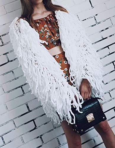 Tops Sherpa Chaqueta Invierno Larga Manga Parkas Jerséis Fräulein con Borla de Remata Ropa de Abrigo Fox Suéter Casual Cárdigans Coat Mujeres Mode Otoño 7wgwTEqa