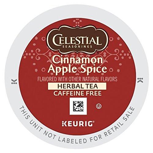 Celestial Seasonings Cinnamon Apple Spice Herbal Tea K-Cup Pod (48 Count)