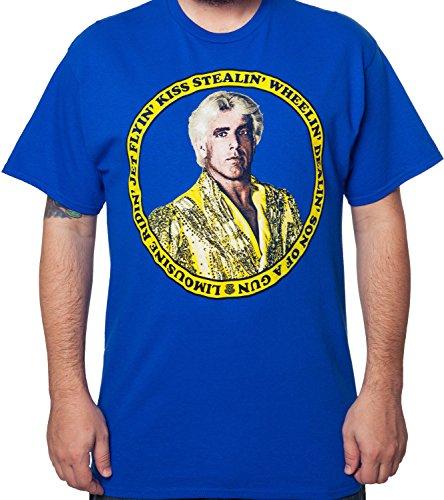 mens-wwe-wrestling-limousine-ridin-ric-flair-t-shirt-royal-blue-xl