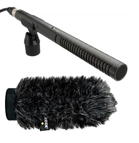 Rode NTG2 Multi-Powered Condenser Shotgun Microphone Videographer Pro Audio Kit+ Rode WS6 Deluxe Wind Shield by Rode