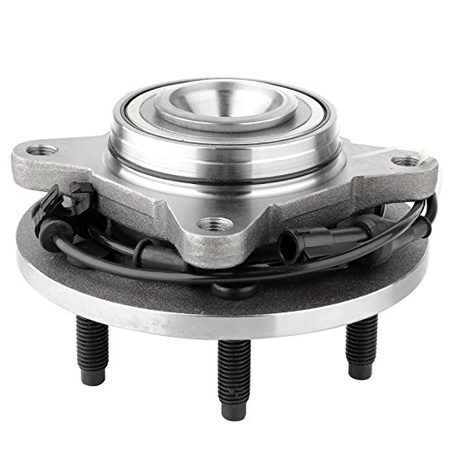 (ECCPP Wheel Hub and Bearing Assembly Front 515042 fit 2003-2006 Ford Expedition Lincoln Navigator Replacement for 6 lugs wheel hubs with ABS 4 Bolt Flange )