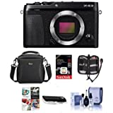 Fujifilm X-E3 Mirrorless Camera Body, Black - Bundle With Camera Case, 16GB SDHC U3 Card, Cleaning Kit, Memory Wallet, Card Reader, Software Package