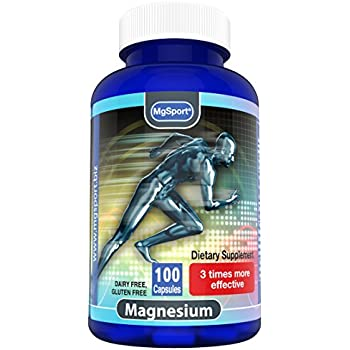 High Absorption Magnesium for Leg Cramps and Sore Muscles, Eases Restless Leg Syndrome (RLS), With Vitamin B6, D and E, 380mg Magnesium Oxide Monohydrate, ...