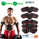 Yunsis ABS Stimulator Muscle Toner, Abdominal Toning Belt Muscle Smart EMS Body Trainer