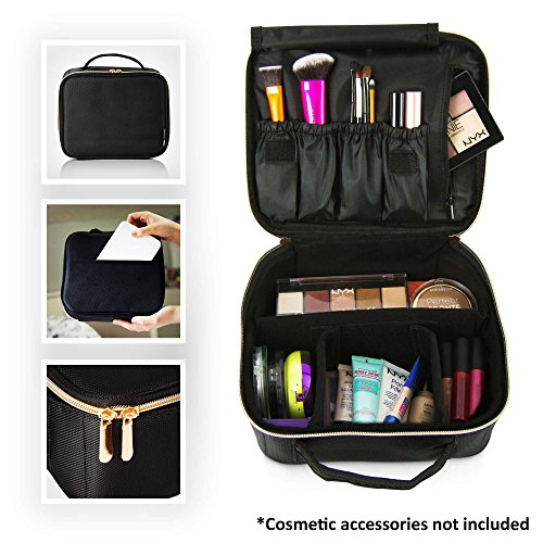 BEAUTYBOX Travel Makeup Bag Cosmetics Train Case - Portable