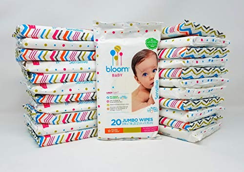 Bloom Baby Sensitive Skin Travel Pack Baby Wipes (24 20-Packs, 480 Total)