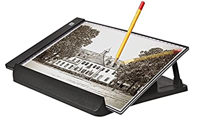 A4 Ultra-thin Portable LED Light Box Tracer USB Power Cable Dimmable Brightness Artcraft Tracing Light Pad Light Box w a Stand for Artists Drawing Sketching Animation Designing Stencilling