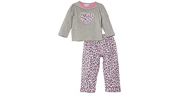 Mini ZZZ - Pijama con estampado de animales para niña, color rosa, talla 4 años: Amazon.es: Ropa y accesorios