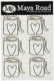 Maya Road Vintage Metal Trinkets, 1.4 by 1.4-Inch, Cup of Joe Clip, 6-Pack