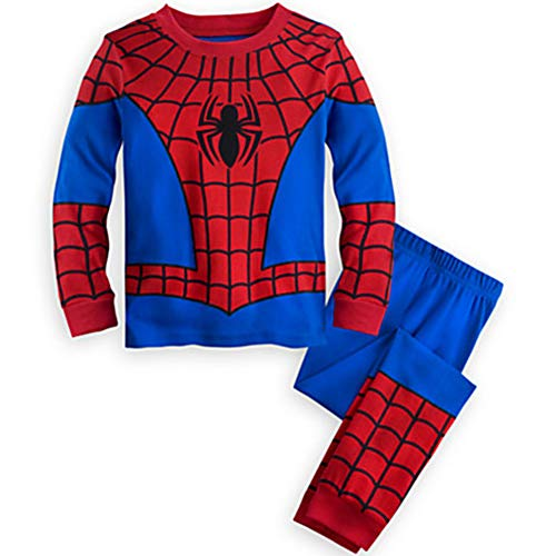 GERGER BO Spiderman Pajamas,Boys Pajamas Kids Short Sets 100% Cotton Clothes Cartoon Sleepwears Redblue -