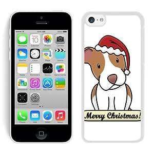 Special Custom Made Iphone 5C TPU Case Christmas Dog White iPhone 5C Case 35