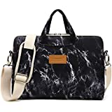 Canvaslife Black Marble Pattern Waterproof Laptop Shoulder Messenger Bag Case Sleeve for 12 inch 13 inch Laptop and 11/12/13