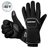 KINGSBOM Waterproof & Windproof Thermal Gloves - 3M Thinsulate Winter Touch Screen Warm Gloves - for Cycling,Riding,Running,Outdoor Sports - for Women and Men - Black (Large)