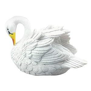 Fan-Ling Floating Resin Simulation Swan,Resin Simulation for Landscape Gardening DecorationGarden Plastic Pond Goose Decor White, Swan Pet,Garden Yard Outdoor Indoor Art Crafts Decor