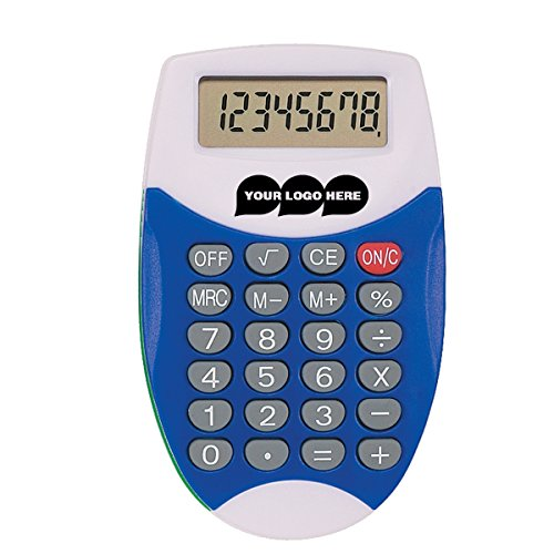Oval Calculator - 250 Quantity - $1.49 Each - PROMOTIONAL PRODUCT / BULK / BRANDED with YOUR LOGO / CUSTOMIZED by CloseoutPromo