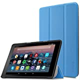 Infiland Case for All-New Fire 7 Tablet (2017 7th Generation) - Ultra Slim Lightweight Tri-fold Stand Cover For All-New Fire 7 Tablet (7th Generation, 2017 release), Blue