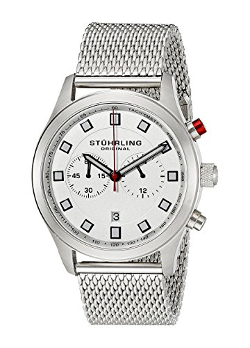 Stuhrling Original Men's 562.33113 Champion Victory Elite Stainless Steel Watch with Mesh Bracelet