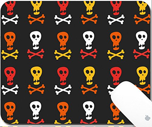 Luxlady Gaming Mousepad 9.25in X 7.25in IMAGE: 38633472 skull and crossbones pattern (Logo Nose Skull)