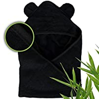 MOON AND BABY Hooded Towels, Incredibly Soft, Made from Organic Bamboo, 34 x ...