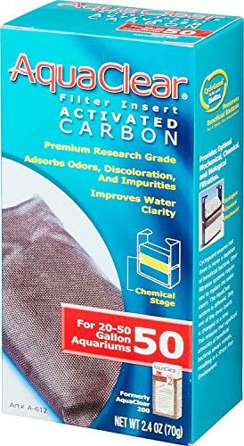 Aqua Clear 50 Filter Insert Activated Carbon, 2.5 Ounce, 12 Pack
