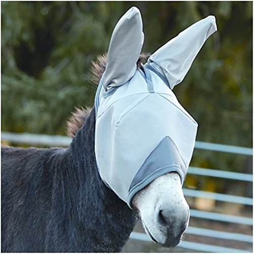Cashel Crusader Standard Mule Donkey Fly Mask with Ears, Warmblood (Mule Saddle Trail)