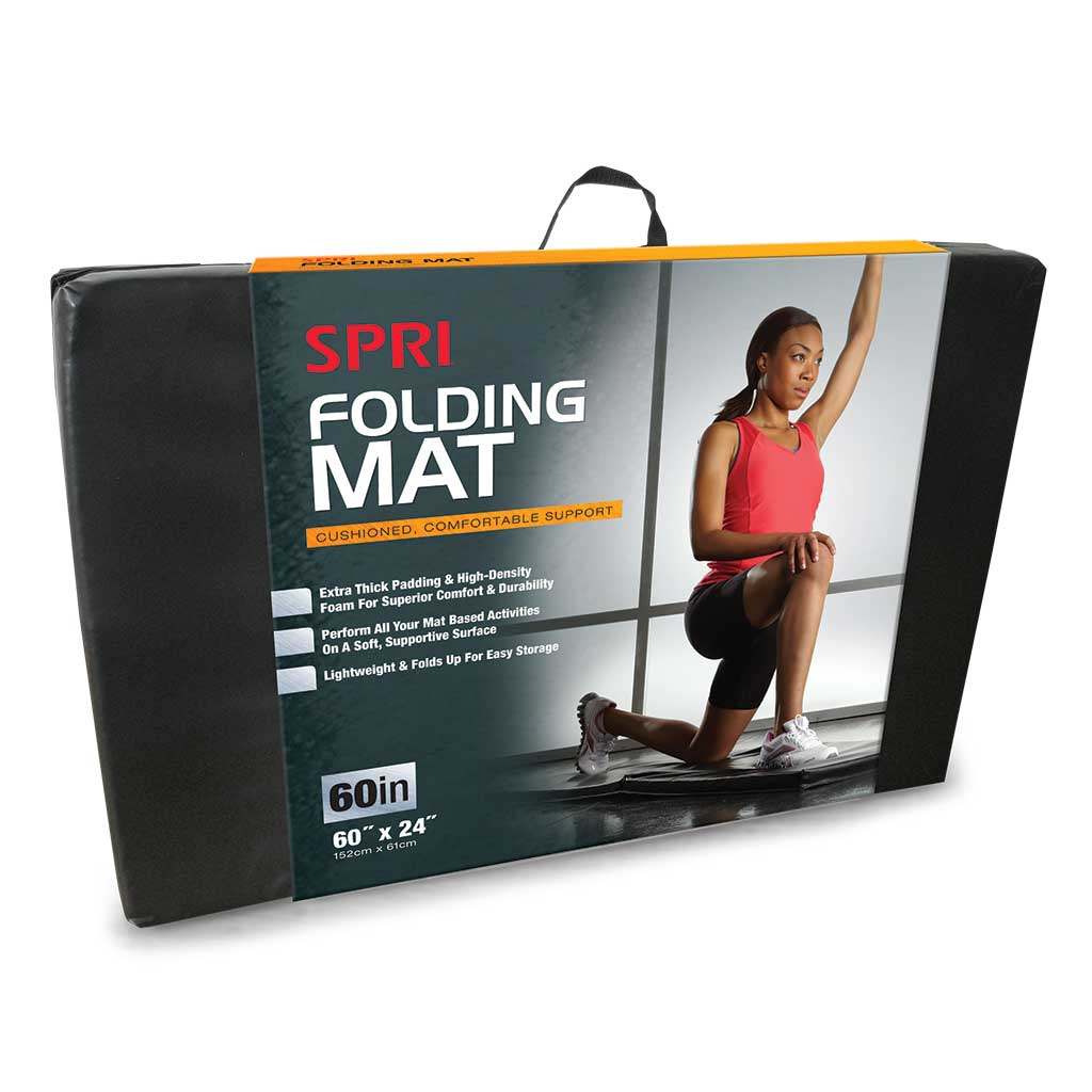 Amazon Com Spri Bi Fold Exercise Mat 72 Inch Spri Mat
