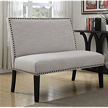 Great Tan Vintage Banquette Bench Seating Upholstered On A Benches Enchanted Home  For Enterance Elegance Entry Entrance