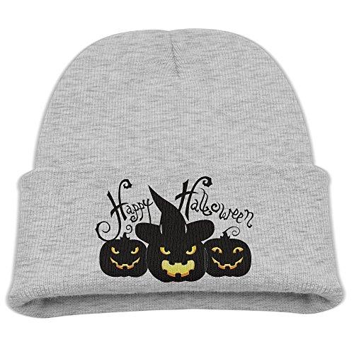 Winter Happy Halloween Pumpkin Witch Hat Skull Cap