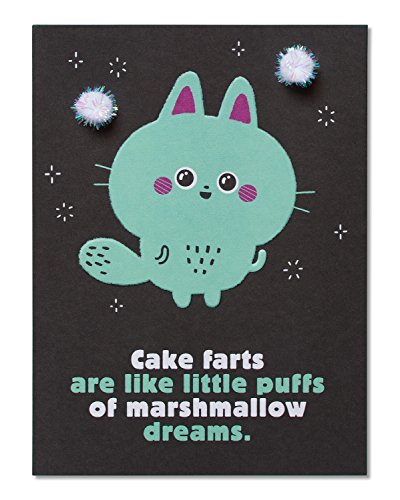 American Greetings Funny Marshmallow Dreams Birthday Greeting Card with Pom Poms