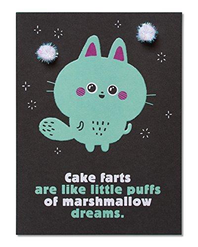 American Greetings Funny Marshmallow Dreams Birthday Card wi