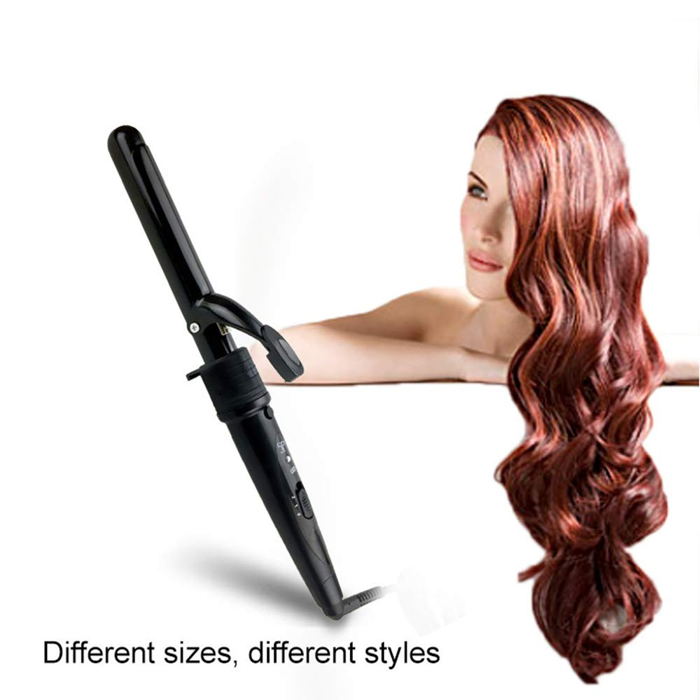 ILYO 5-in-1 Curly Hair Stick, PTC Ceramic Hair Straightener Multi-Function 16mm-20mm Curling Iron Safety Gloves Anti-scalding Multi-Function Styling bar Hair Salon Home