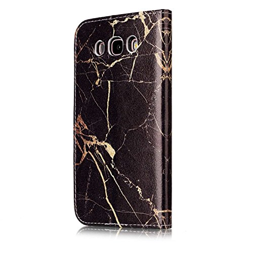 Samsung Galaxy J5 2016 PU Cuero Funda, Vandot 3D Bling Rhinestones Mariposa Shell TPU Inner Bumper Case Funda con Billetera Tapa Holster Cierre Magnético Tarjeta Ranura Carcasa Teléfono Concha Bolsa C DLS PT 05