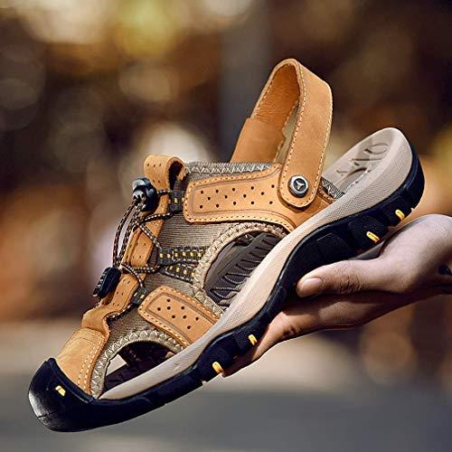 Para 28 Casuales Zapatos Addg Casuales Hombres Playa Suaves Punta De Cerrada Suelas 46 black Sandalias qqA4T8w