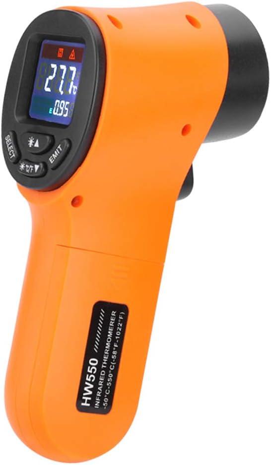 misuratore di temperatura portatile Xzbnwuviei HW550 pirometro IR laser Termometro a infrarossi digitale HW550 senza contatto