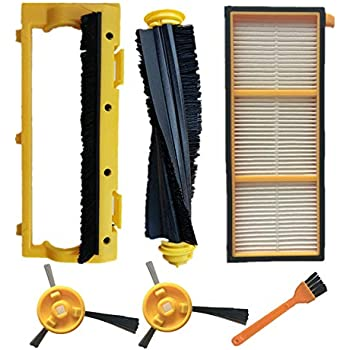 Vacuum Cleaner Parts includes 4 Side Brushes With The Best Service Honest New-vacuum Filter And Side Brushes Replacement Kit For Shark Ion Robot Rv700 Rv720 Rv750 Rv750c Rv755