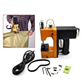 Portable Sewing Machine,Industrial Electric Bag Stitching Closer Seal Sewing Machine for Packaging Chemical Building (220V+5x Needle)