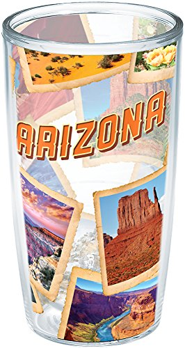 Tervis 1206070 Arizona Desert Collage Insulated Tumbler with Wrap, 16oz, Clear