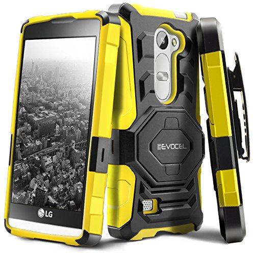 LG Tribute 2 / LG Leon/LG Risio Case, Evocel [New Generation Series] Belt Clip Holster, Kickstand, Dual Layer for LG Tribute 2 (LS665)/ LG Leon (H340, H326, H345, H320, C40)/ LG Risio, Yellow