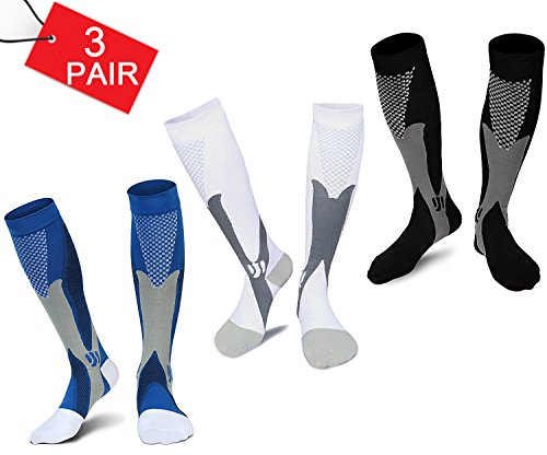 Compression Socks Men Women Best Graduated Athletic Fit Compression Sock for Run