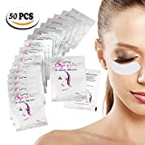 #2: Lint Free Under Eye Gel Pads - 50 Pairs of Salon and Individual Eyelash Extension Supplies Patches, Eyelash Pads Hydrogel Eye Mask Beauty Tool by Omberlan