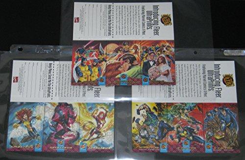 (1994 Fleer Ultra X-Men 3-Card PROMO Panel Triptych Set of 3 Cards NM/M Marvel)