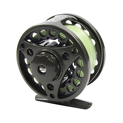 Croch Fly Fishing Reel with CNC-machined Aluminum Alloy Body 5/6 Gun Green (6 Left Hand Super Switch)
